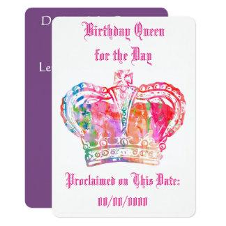 Geburtstags-Königin für den Tag Karte