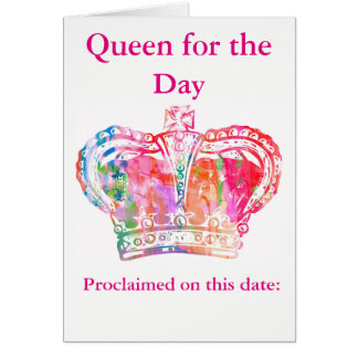 Geburtstags-Königin Grußkarte