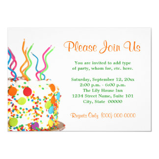 Geburtstags-Kuchen-Einladungen 11,4 X 15,9 Cm Einladungskarte