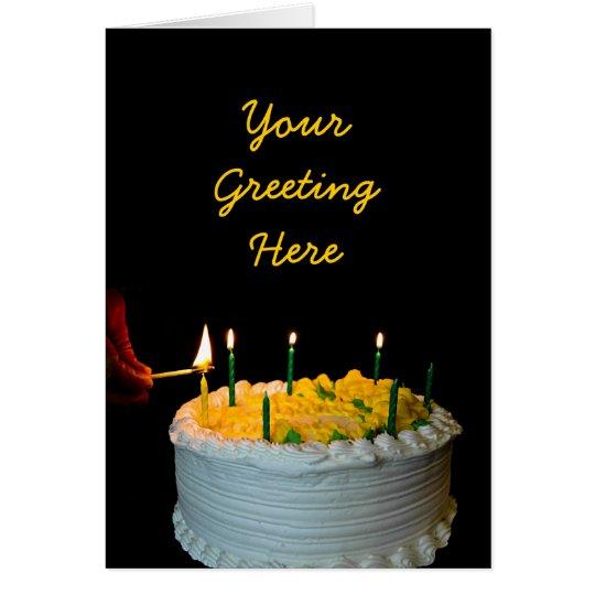 Geburtstags-Kuchen-Karte Grußkarte