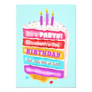 Geburtstags-Kuchen u. Kerzen-Party Einladung