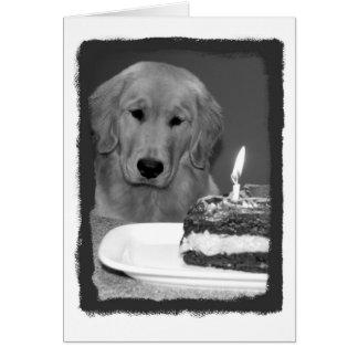 Geburtstags-Kuchen-Wartezeit Karte