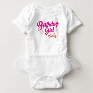 Geburtstags-Mädchen Baby Strampler