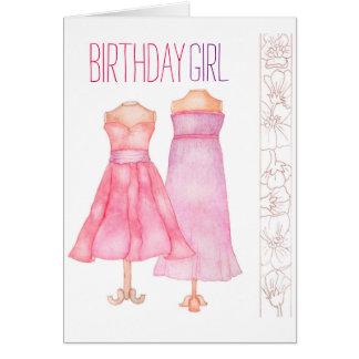 Geburtstags-Mädchengrußkarte Karte