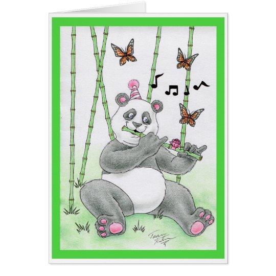 Geburtstags-Panda-Bär Karte