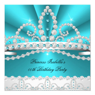 Geburtstags-Party 2 Prinzessin-Teal Blue Diamond