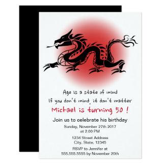 Geburtstags-Party des chinesischen traditionellen 8,9 X 12,7 Cm Einladungskarte