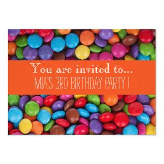Geburtstags-Party des Süßigkeitsschokoladenkindes Karte