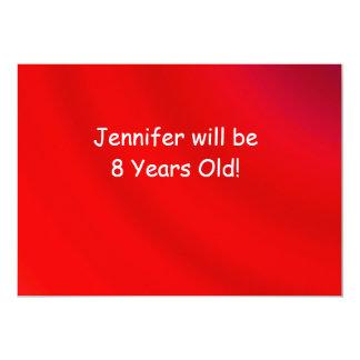 Geburtstags-Party Einladung, doppelseitige, rote 12,7 X 17,8 Cm Einladungskarte