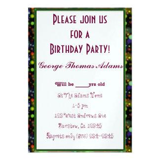 Geburtstags-Party steigt das Savvy Personalisierte Einladungen