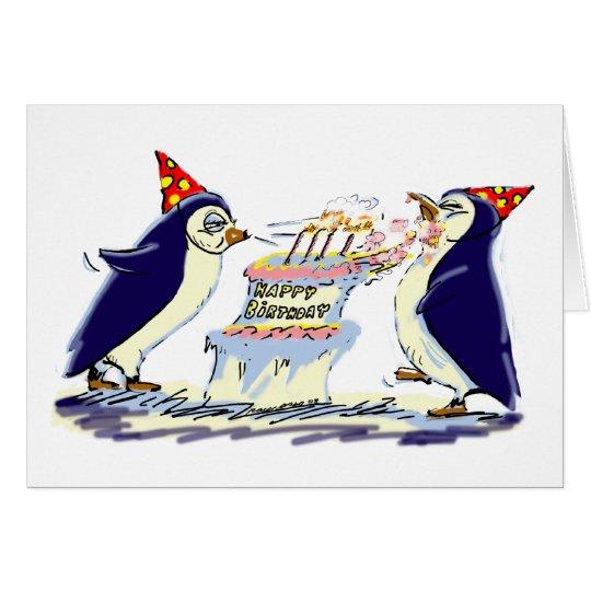 Geburtstags-Pinguine Grußkarte