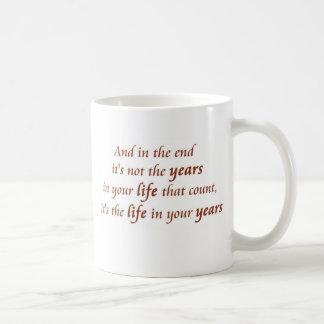 Geburtstags-Redewendungens-Kaffeetasse-Glückslogan Kaffeetasse