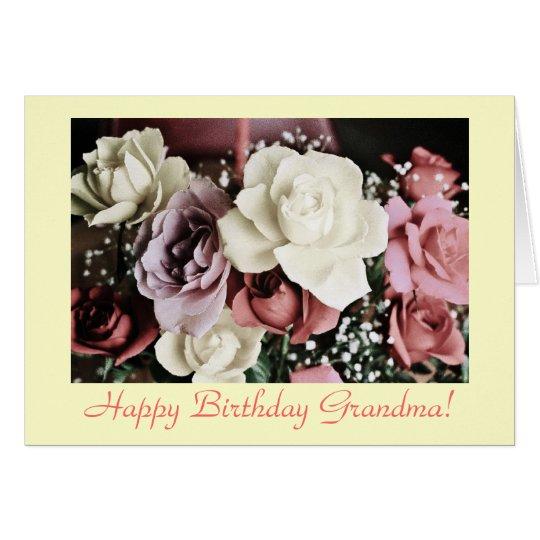 Geburtstags-Rosen der Großmutter Karte