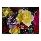 Geburtstags-Rosen der Mammas Karte