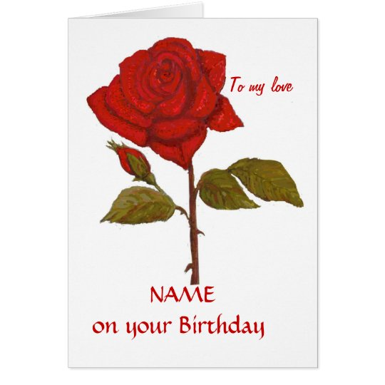 Geburtstags-Rosen-Karte. Personifizieren Sie es Grußkarte