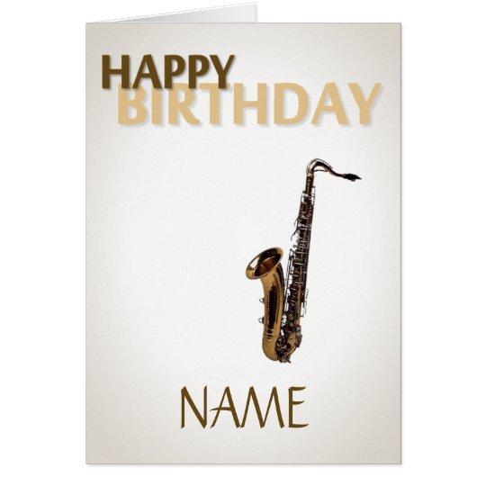 Geburtstags-Saxophon Karte