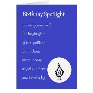 Geburtstags-Scheinwerfer - ein lustiges Karte