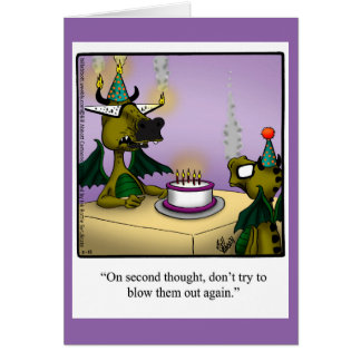 Geburtstags-Spaß-Drache-Gruß-Karte für Kinder Karte