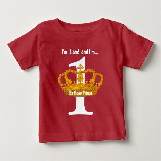 Geburtstags-T-Stück für eine jährige Goldkrone Baby T-shirt