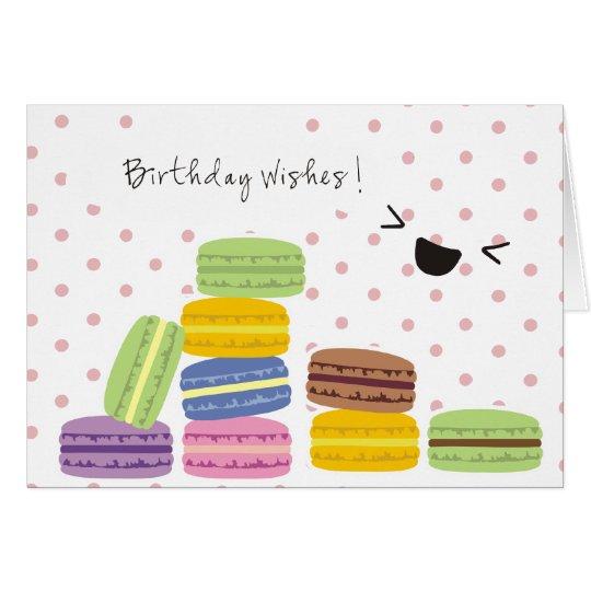 Geburtstags-Wünsche - Makronen-Entwurf Grußkarte