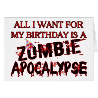 Geburtstags-Zombie-Apokalypse Karte