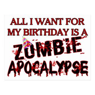 Geburtstags-Zombie-Apokalypse Postkarte