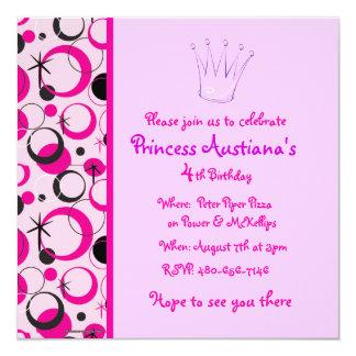 Geburtstagseinladung Quadratische 13,3 Cm Einladungskarte