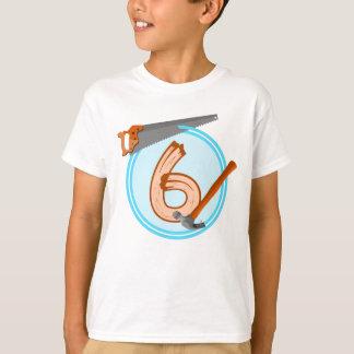 Geburtstagsentwurf mit 6-Jähriger T-Shirt