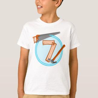 Geburtstagsentwurf mit 7-Jähriger T-Shirt