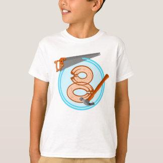 Geburtstagsentwurf mit 8-Jähriger T-Shirt