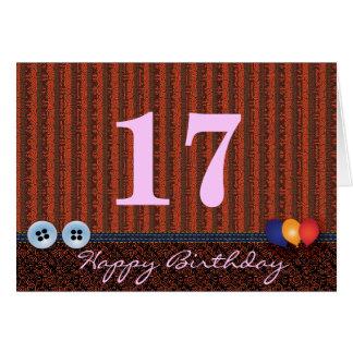 Geburtstagsgruß Karte während alles Alters: Knöpfe