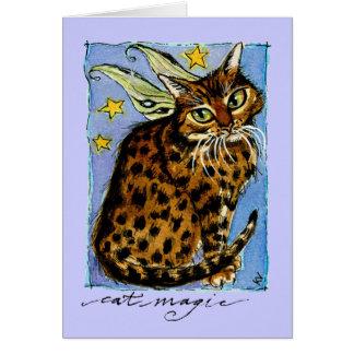 Geburtstagsgruß- oder -anmerkungskarte Ocicat Karte