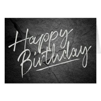 Geburtstagsgrüße auf schwarzer karte