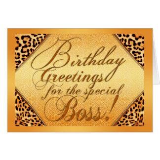 Geburtstagsgrüße für den speziellen Chef Karte
