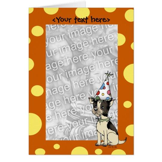 Geburtstagshündchen-Kartenschablone Karte