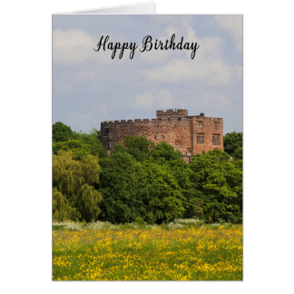 Geburtstagskarte, die Tamworth-Schloss Karte