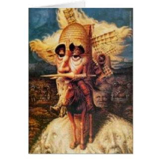 Geburtstagskarte - Don Quichote Karte