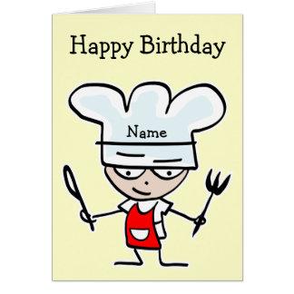 Geburtstagskarte für Koch oder Koch - Kochen des Grußkarte
