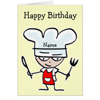 Geburtstagskarte für Koch oder Koch - Kochen des Karte