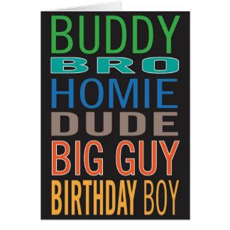 Geburtstagskarte für Typ-/Mannes-/Mannfreund Karte