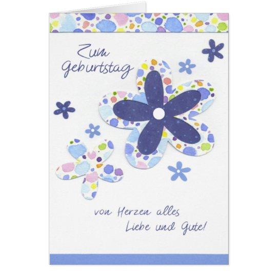 Geburtstagskarte mit bunten Blumen Karte