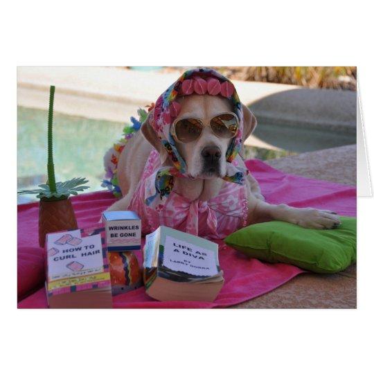 Geburtstagskarte mit HundeFoto Grußkarte
