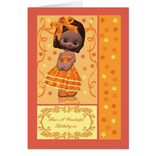 Geburtstagskarte mit niedlichem kleinem grußkarte