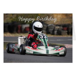 Geburtstagskarte von gehen, kart Rennen karting Karte