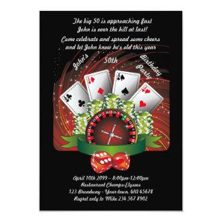 Geburtstagsmann irgendein Alter, Poker, spielend, Karte