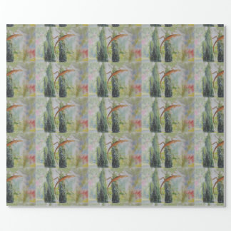 Gecko auf dem Fenster-Schirm Geschenkpapier