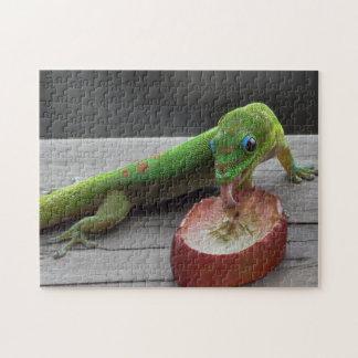 Gecko, der Trauben isst