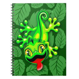 Gecko-Eidechsen-Baby-Cartoon Spiral Notizblock