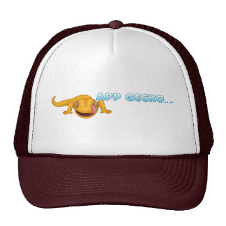 Gecko-Hut - besonders angefertigt Retrokultkappen