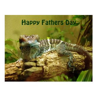 Gecko-Vatertags-Postkarte